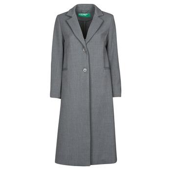 Clothing Women Coats Benetton  Grey