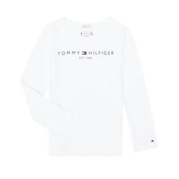 Clothing Girl Long sleeved tee-shirts Tommy Hilfiger KG0KG05247-YBR-C White