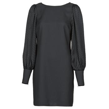 Clothing Women Short Dresses Naf Naf  Black