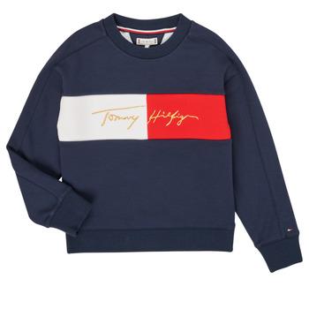 Clothing Girl Sweaters Tommy Hilfiger KG0KG05497-C87-J Marine