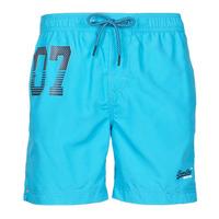 Clothing Men Trunks / Swim shorts Superdry WATERPOLO SWIM SHORT Blue
