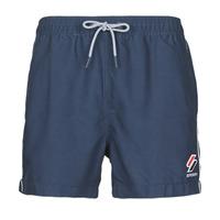 Clothing Men Trunks / Swim shorts Superdry TRI SERIES SWIM SHORT Blue