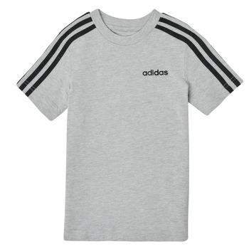 Clothing Boy Short-sleeved t-shirts adidas Performance YB E 3S TEE Grey