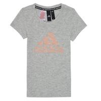 Clothing Girl Short-sleeved t-shirts adidas Performance JG A MHE TEE White