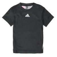 Clothing Boy Short-sleeved t-shirts adidas Performance B A.R. TEE Black