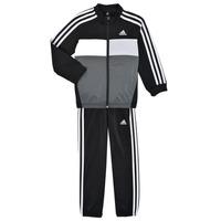 Clothing Boy Tracksuits adidas Performance B TIBERIO TS Black / Grey