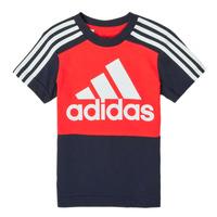Clothing Boy Short-sleeved t-shirts adidas Performance B CB T Red / Marine