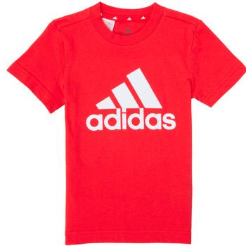 Clothing Boy Short-sleeved t-shirts adidas Performance B BL T Red