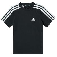 Clothing Boy Short-sleeved t-shirts adidas Performance B 3S T Black