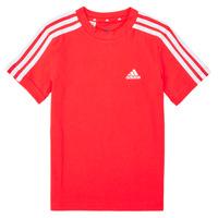 Clothing Boy Short-sleeved t-shirts adidas Performance B 3S T Red