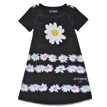 Clothing Girl Short Dresses Desigual 21SGVK28-2000 Black