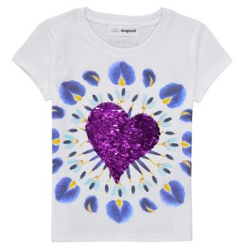 Clothing Girl Short-sleeved t-shirts Desigual 21SGTK45-1000 White