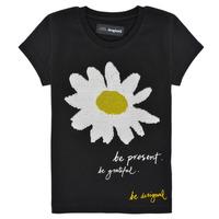 Clothing Girl Short-sleeved t-shirts Desigual 21SGTK28-2000 Black