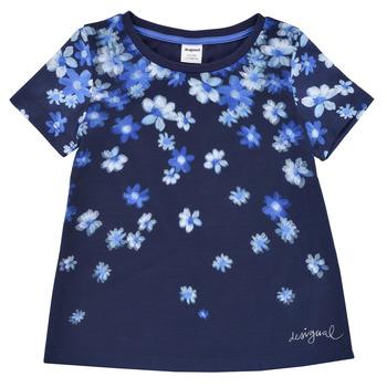 Clothing Girl Short-sleeved t-shirts Desigual 21SGTK37-5000 Marine