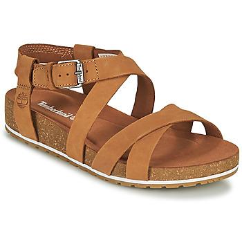 Shoes Women Sandals Timberland MALIBU WAVES ANKLE Cognac