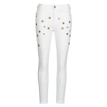 Clothing Women Slim jeans Desigual AUSTRIA White