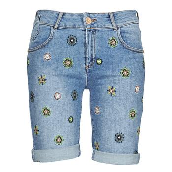 Clothing Women Shorts / Bermudas Desigual GRECIA Blue