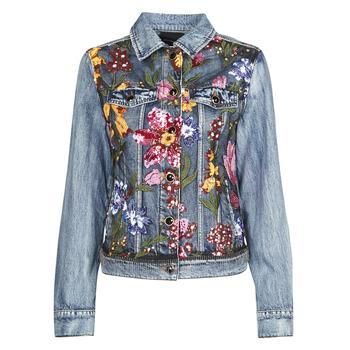 Clothing Women Denim jackets Desigual BALT Blue