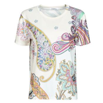 Clothing Women Short-sleeved t-shirts Desigual POPASLEY White