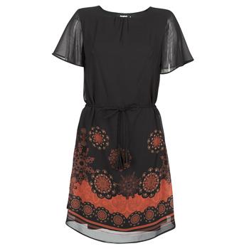 Clothing Women Short Dresses Desigual TAMPA Black