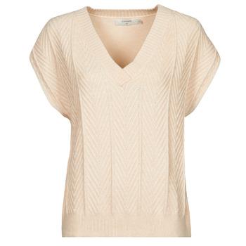 Clothing Women Tops / Blouses Cream MAHIMA SLEEVELESS Beige