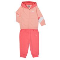 Clothing Girl Sets & Outfits Puma BB MINICATS REBEL Pink / Grey