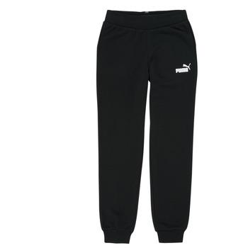 Clothing Girl Tracksuit bottoms Puma ESS SWEATPANT Black