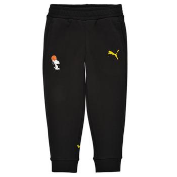 Clothing Boy Tracksuit bottoms Puma SNOOPY PEANUTS SWEAT PANT Black
