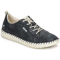 Shoes Women Low top trainers Mustang NINA Marine