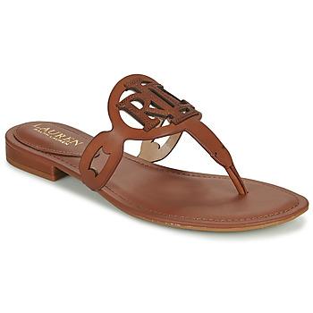 Shoes Women Sandals Lauren Ralph Lauren AUDRIE Cognac