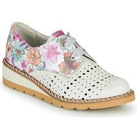 Shoes Women Derby Shoes Dorking TETRIS White / Multicolour