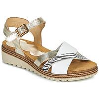 Shoes Women Sandals Dorking ESPE White / Silver