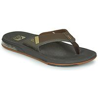 Shoes Men Flip flops Reef FANNING LOW Brown