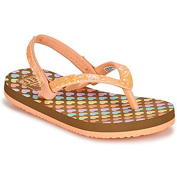 Shoes Girl Flip flops Reef LITTLE STARGAZER PRINTS Pink