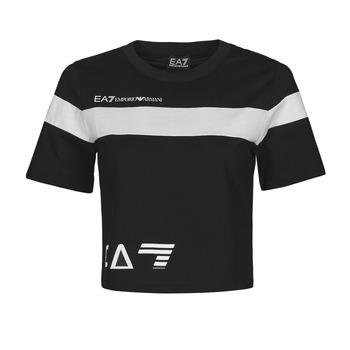 Clothing Women Short-sleeved t-shirts Emporio Armani EA7 3KTT05-TJ9ZZ-1200 Black / White