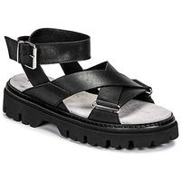 Shoes Women Sandals Fru.it 6757-100-NERO Black