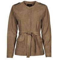 Clothing Women Leather jackets / Imitation leather One Step DITA Cognac