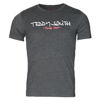 Clothing Men Short-sleeved t-shirts Teddy Smith TICLASS Grey / Dark