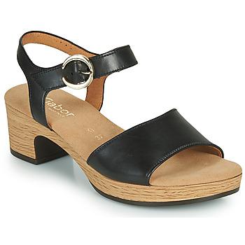 Shoes Women Sandals Gabor 6272157 Black