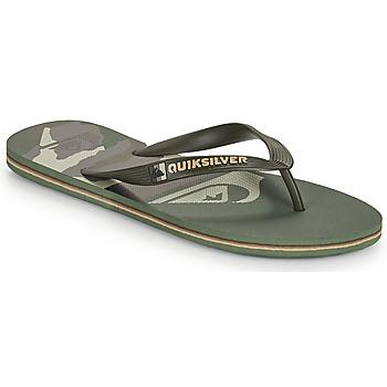 Shoes Men Flip flops Quiksilver MOLOKAI PANEL Kaki