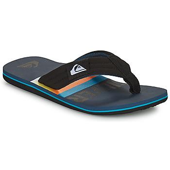 Shoes Children Flip flops Quiksilver MOLOKAI LAYBACK YOUTH Black / Blue