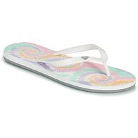 Shoes Women Flip flops Roxy TAHITI VII White / Pink
