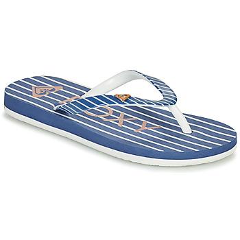 Shoes Girl Flip flops Roxy PEBBLES VII G Marine