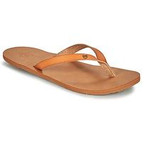 Shoes Women Flip flops Roxy JYLL III Camel