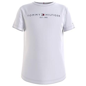 Clothing Girl Short-sleeved t-shirts Tommy Hilfiger KG0KG05242-YBR White