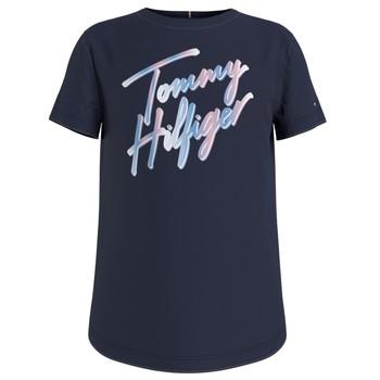 Clothing Girl Short-sleeved t-shirts Tommy Hilfiger KG0KG05870-C87 Marine