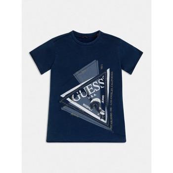 Clothing Boy Short-sleeved t-shirts Guess L1RI15-K8GA0-F233 Blue