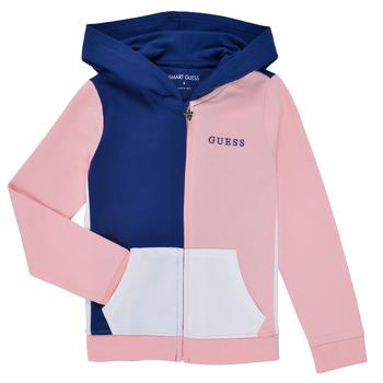 Clothing Girl Sweaters Guess K1RQ00-KA6R0-F672 White / Pink