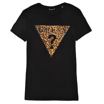 Clothing Girl Short-sleeved t-shirts Guess J1RI27-K9MV0-P954 Black