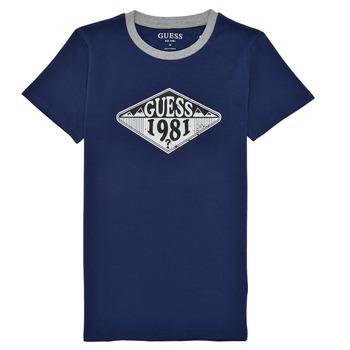 Clothing Boy Short-sleeved t-shirts Guess L1GI09-K8HM0-DEKB Marine
